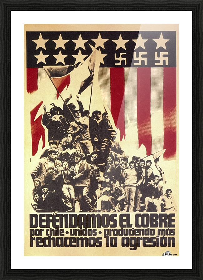 defend chile copper from the usa vintage poster canvas