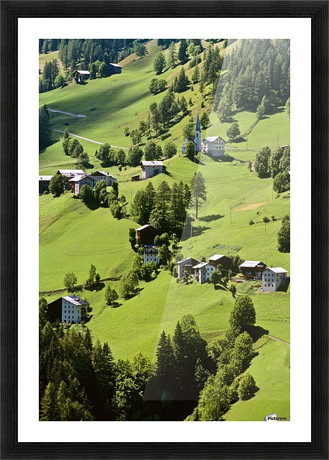 Mountain Village In Dolomites Italy Pacificstock Canvas