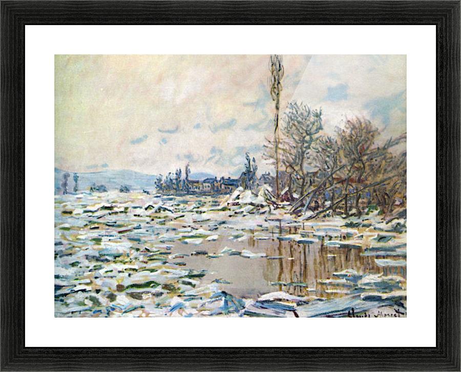 Break Up of Ice by Monet - Monet Canvas