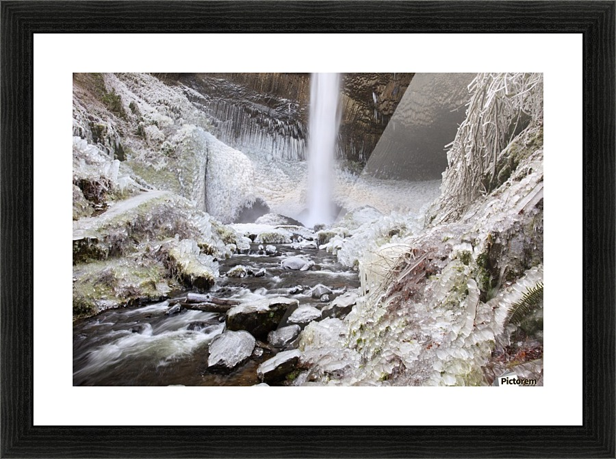 Winter Ice Storm By Latourell Falls Columbia River Gorge Oregon