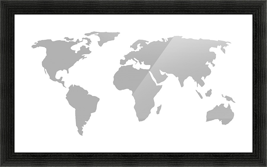 World map grey style worldflag canvas artwork world map grey style picture frame printing gumiabroncs Choice Image