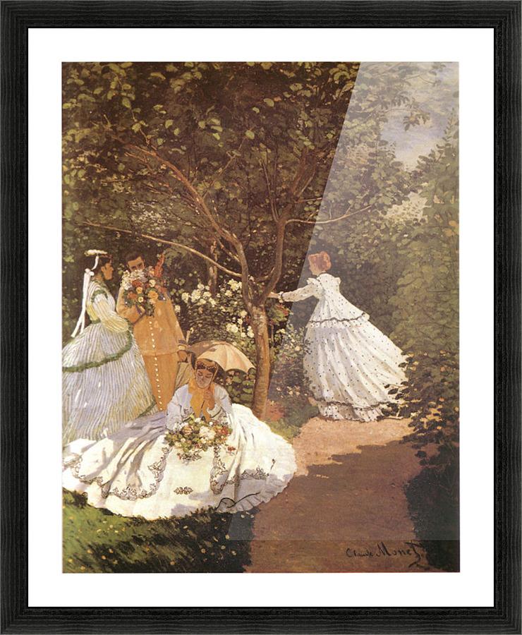 Femmes au jardin 1867 by Monet - Monet Canvas