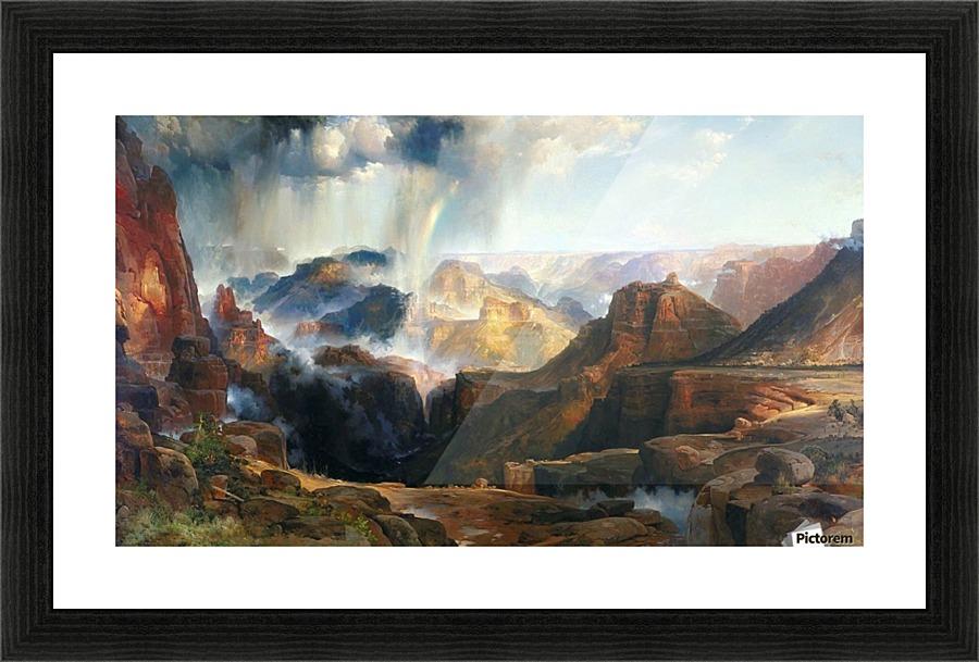 Storm In The Grand Canyon Thomas Moran Canvas