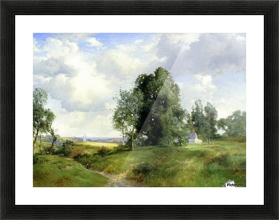 Old Windmill East Hampton Long Island New York, 1912 - Thomas Moran ...
