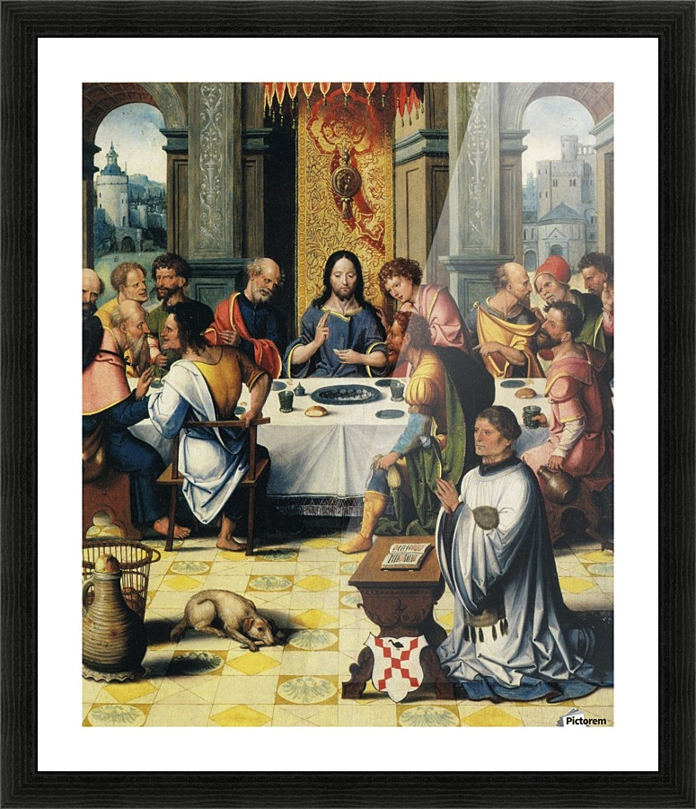 The last supper - Pieter Coecke van Aelst Canvas