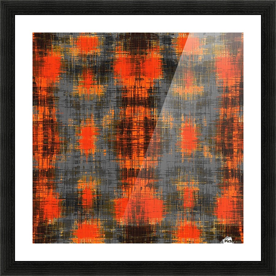 Geometric Orange Brown Black And Grey Painting Texture Abstract Background Timmyla Canvas Artwork