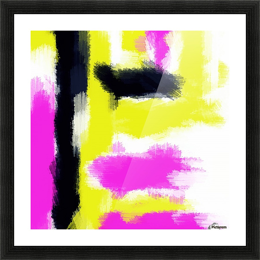 Pink yellow and black painting abstract with white background pink yellow and black painting abstract with white background picture frame printing jeuxipadfo Gallery
