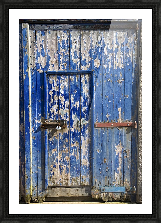 Old Barn Door Picture Frame Printing