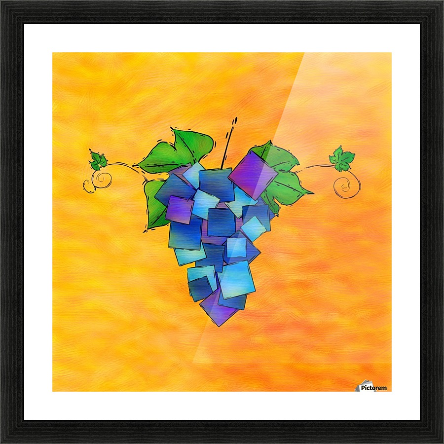 Jamurissa - square grapes - Cersatti Art Canvas