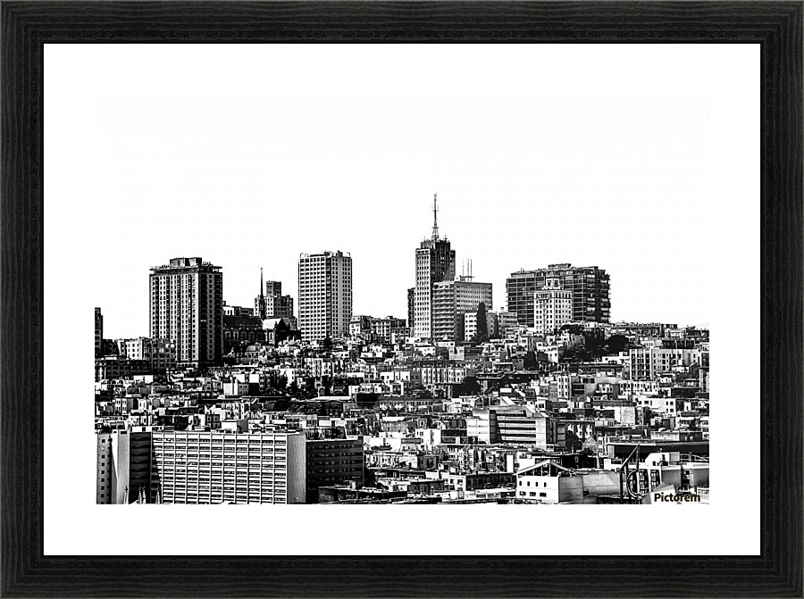 city view at San Francisco in black and white - TimmyLA Canvas