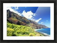 Hawaii, Kauai, Napali Coast, Kalalau Valley, Secluded Beach Picture Frame print