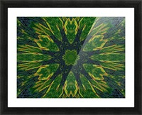 Green Flower 4 Picture Frame print