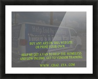 helping the homeless get to vendor training. OKC Picture Frame print