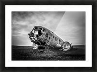 Plane wreck B&W Picture Frame print