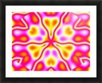California Wildflowers in Pink and Yellow Picture Frame print