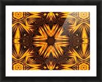 Golden Dandelion Picture Frame print