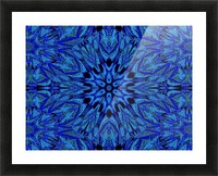 Electric Blue 1 Picture Frame print