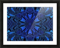 Electric Blue 2 Picture Frame print