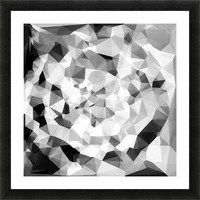 geometric polygon abstract pattern in black and white Picture Frame print