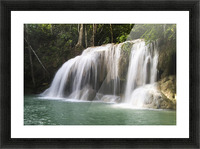 Thailand, Kanchanaburi Province, Erawan National Park, One Of The Falls From The 7-Tiered Erawan Waterfall Picture Frame print