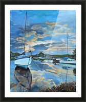 Nestled in for the Night at Mylor Bridge Picture Frame print
