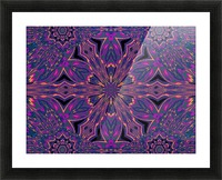 Psychedelic Jasmine 3 Picture Frame print