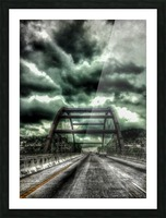 Pennybacker Bridge Picture Frame print
