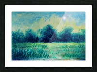 Landscape and Sun Picture Frame print