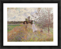 Promenade a Argenteuil 1875 by Monet Picture Frame print