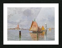 Fishing boats in Venetian lagoon Picture Frame print