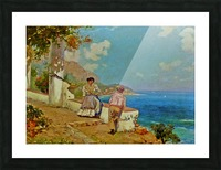 Courting couple in Naples Picture Frame print