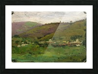 Landscape with houses on an Italian hill Impression et Cadre photo