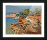 Landscape along the Italian coast Impression et Cadre photo
