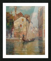 Gondola traveling along a canal in Venice Impression et Cadre photo