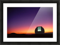 Hawaii, Big Island, Mauna Kea, Keck Observatory Open Dome, Twilight, Dramatic Sky A44E Impression et Cadre photo