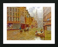 Street in Paris during Flood of 1910 Impression et Cadre photo