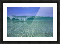Hawaii, Front View Of Shallow Crystal Clear Aquamarine Wave, Curling A30D Picture Frame print