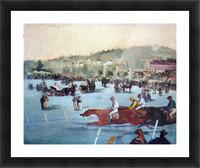 Races at the Bois de Boulogne by Manet Picture Frame print