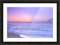 Lavender Sky With Hues Of Pink And Yellow, Shoreline Water To Ocean C1699 Picture Frame print