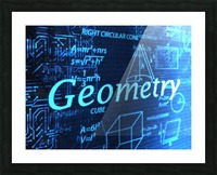 Geomtry Picture Frame print
