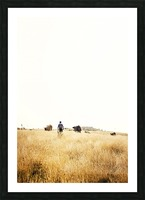 Cow man Picture Frame print
