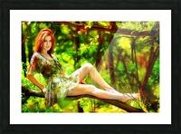 TREEgirl2 Picture Frame print