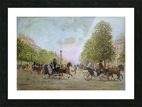 The Promenade on the Champs-Elysees Picture Frame print