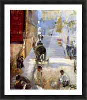 Road workers, rue de Berne (detail) by Manet Picture Frame print