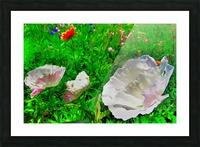 whiteflower Picture Frame print