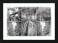 NEW YORK CITY Urban Collage No. 3 Picture Frame print
