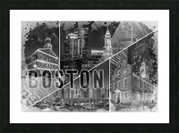 BOSTON Urban Collage No. 1 Picture Frame print