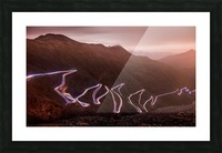Winding light Picture Frame print
