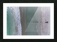 Fisherman from the sky Picture Frame print