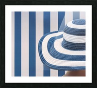 Blue and white Picture Frame print
